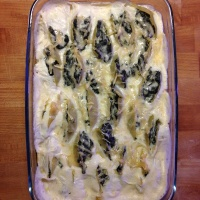 Stuffed Conchiglioni with Spinach and Feta
