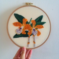 Embroidered Orchid